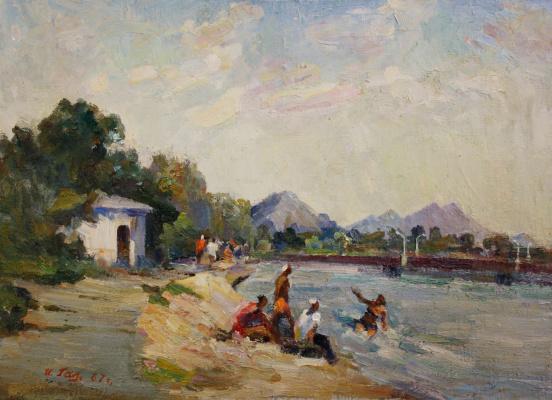 Ivan Alekseevich Galaganov. Kalmius river