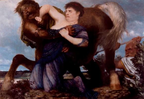 Arnold Böcklin. Fight