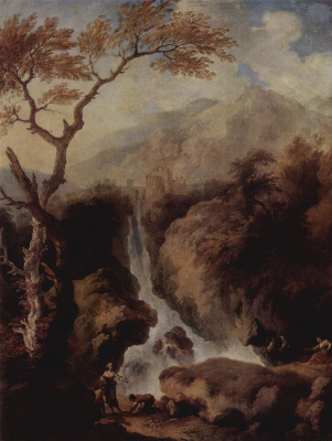 Christian Wilhelm Ernst Dietrich (Dietrich). Waterfalls in the vicinity of Rome