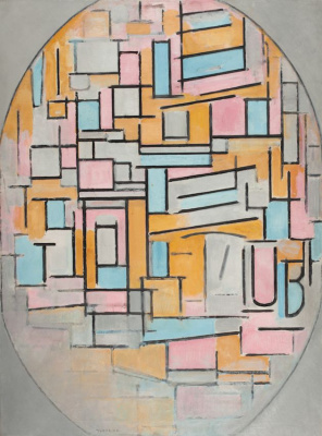 Piet Mondrian. Composition in oval with colour planes 2