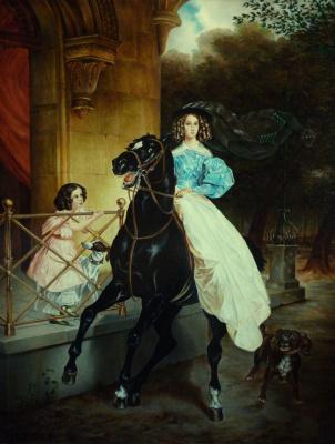 Valery Vasilyevich Litvinov. Horsewoman (copy Bryullova)