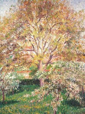 Камиль Писсарро. Орех и яблони в цвету в Эраньи