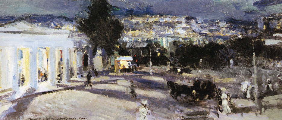 Konstantin Korovin. Sevastopol in the evening