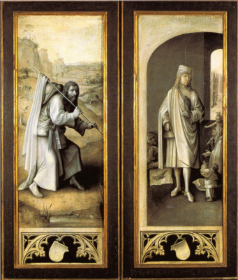 Jacob the Great and Holy St. Bavon. The triptych the last judgment. External doors