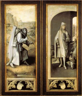 Святой Яков Великий и Святой Бавон. Триптих Страшный суд. Внешние створки