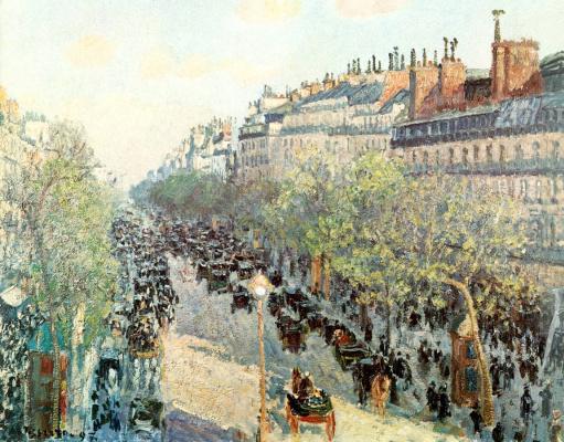 Camille Pissarro. The Boulevard Montmartre sunset