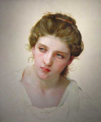 William-Adolphe Bouguereau. Etude. Portrait of a woman