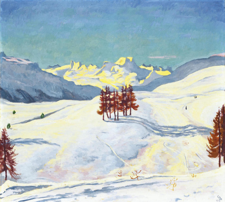 Джованни Джакометти. Зима в горах