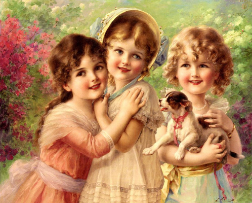 Emile Vernon. Best friends. 1917