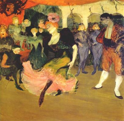 Henri de Toulouse-Lautrec. Marcelle Lender Dancing in the Bolero in 'Chilperic'