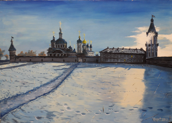 Vladimir Adamovich Ropot. At the monastery