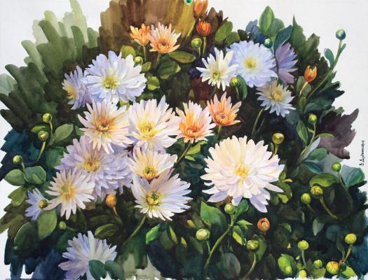 Violetta Dudnikova. Chrysanthemums