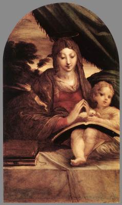 Франческо Пармиджанино. Мадонна с младенцем
