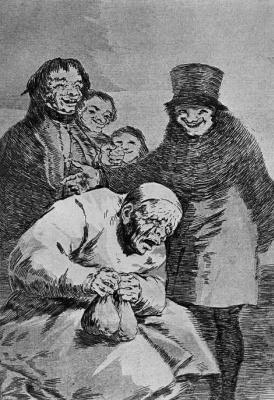 "Francisco Goya. ""Why hide them?"" (Series ""Caprichos"", page 30)"