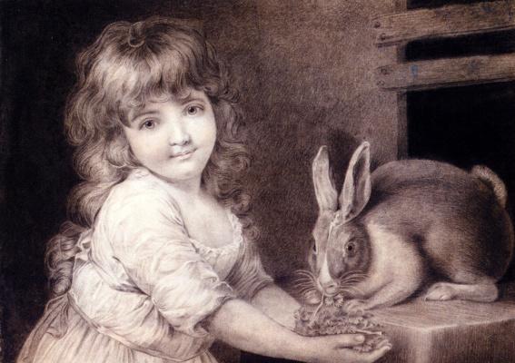 Джон Рассел. Девочка с кроликом