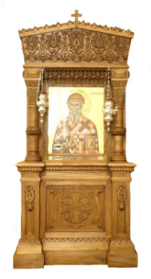 Igor Yurevich Drozhdin. Carved from basswood frame outdoor