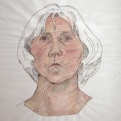 Maria Lassnig. Self-portrait