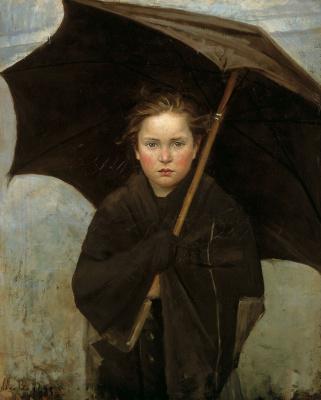 Мария Константиновна Башкирцева. Rain umbrella
