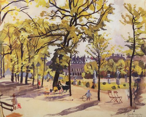 Zinaida Serebryakova. Paris. Luxembourg gardens