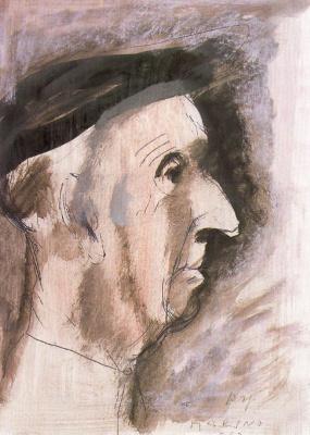 Марино Марини. Старик в шляпе