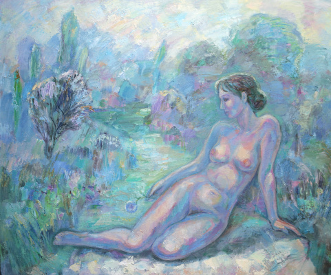 Oksana Viktorovna Zalevskaya. Spring. Nude
