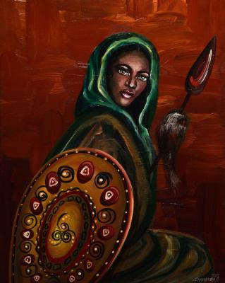 """Alla Struchayeva. The painting """"Warrior of the Light"""""""