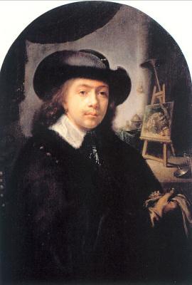 Герард Доу. Портрет художника в студии