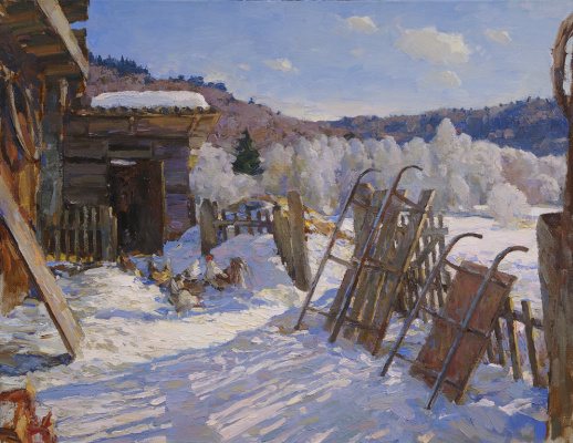 Alexander Victorovich Shevelyov. Breath of spring. Oil on canvas 47 x 60.5 cm. 2012