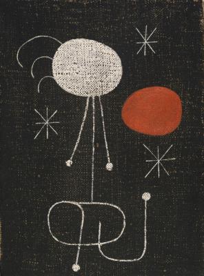 Joan Miro. The woman and the sun