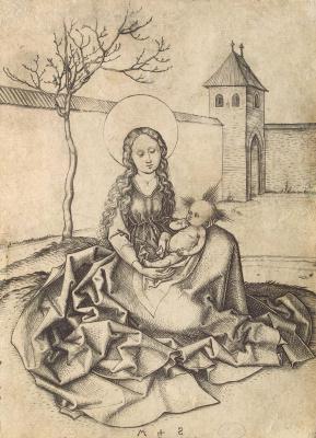 Martin Schongauer. Madonna in the yard