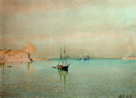 Lev Feliksovich Lagorio. The entrance of the black sea fleet in Sevastopol Bay