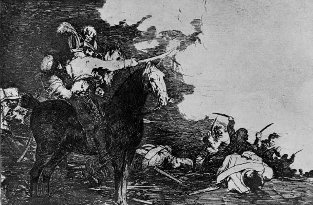 "Francisco Goya. The series ""disasters of war"", page 17: can't conspire"