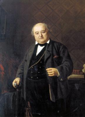 Nikolai Vasilyevich Nevrev. Portrait of M.Shepkin. 1862