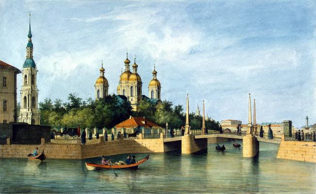 Фердинанд-Виктор Перро. Вид Николо-Богоявленского кафедрального собора