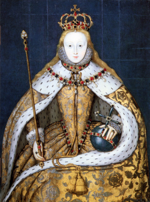 Masterpieces of unknown artists. Queen Elizabeth I
