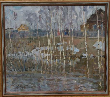 Е.Рябинский. Весна в деревне