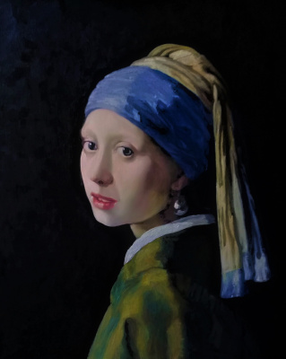 LEMI Abaev. Girl with a pearl earring - copy