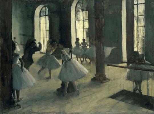 Эдгар Дега. Репетиция в балетном классе