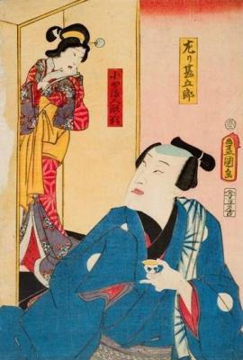 Утагава Кунисада. Хидари Дзингоро, легендарный японский скульптор