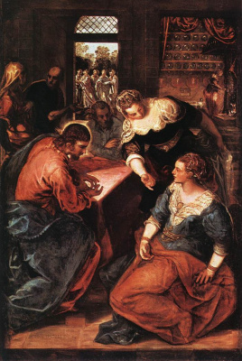 Якопо Тинторетто. Христос в доме Марфы и Марии