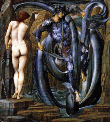 Edward Coley Burne-Jones. Perseus. Execution of the sentence