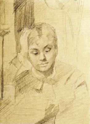 Мария Константиновна Башкирцева. Girl reading