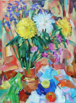 Irina Valerievna Antonovskaya. Chrysanthemums