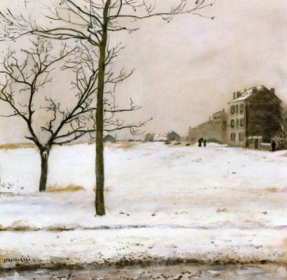 Жан-Франсуа Рафаэлли. Монмартр под снегом