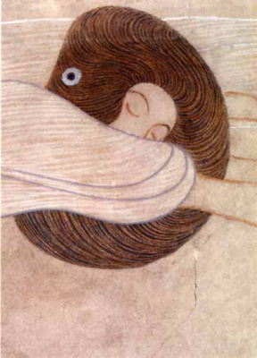Gustav Klimt. Beethoven Frieze: the Thirst for happiness. Poetry (fragment)
