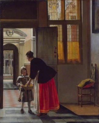 Pieter de Hooch. Boy carrying bread