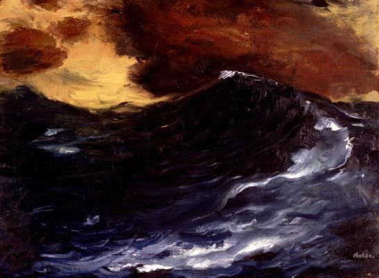 Emil Nolde. High waves