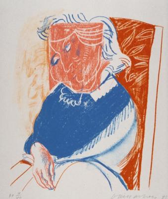 David Hockney. Portrait of Mother II