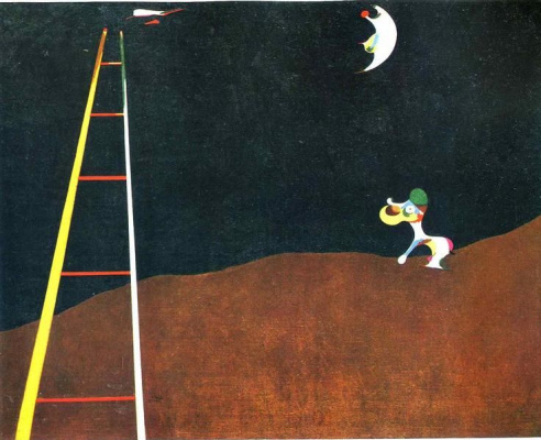 Joan Miro. The dog barks at the moon