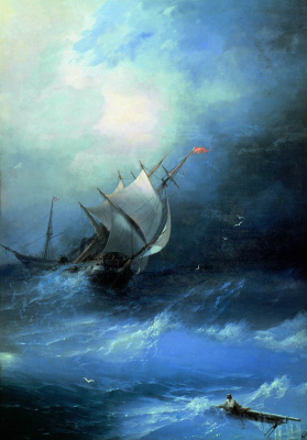 Ivan Aivazovsky. Storm on the Arctic ocean